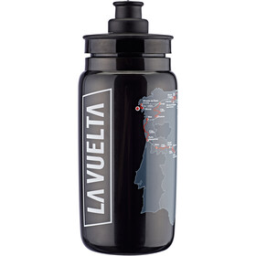 Elite Fly Vuelta Map Drinking Bottle 550ml, black